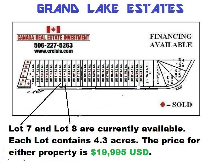 SITE PLAN FOR GRAND LAKE ESTATES.